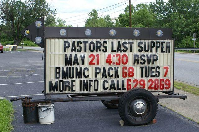 Pastor's Last Supper?  Uh oh...