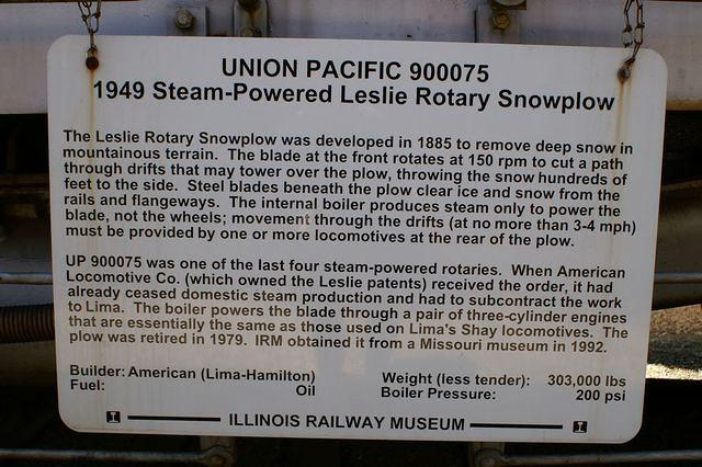 UP 900075 Rotary Snowplow