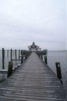 The Roanoke Marshes light at the Manteo waterfront